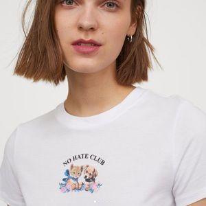 NWT No Hate Club Cat & Dog Cotton T-shirt